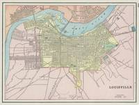 Vintage Map of Louisville KY (1901)
