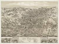 Vintage Pictorial Map of Mount Vernon NY (1883)