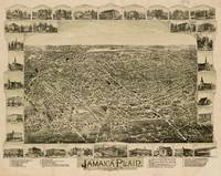 Vintage Pictorial Map of Jamaica Plain MA (1891)