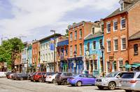 Old Row onThames Street in Baltimore's Fells Point