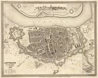 Vintage Map of Antwerp Belgium (1845)