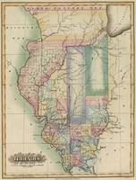 Vintage Map of Illinois (1823)