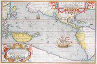 Vintage Map of The Pacific Ocean (1595)