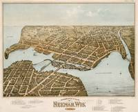 Vintage Pictorial Map of Neenah WI (1879)