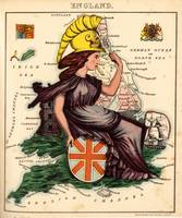 Vintage Illustrative Map of England (1869)
