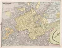 Vintage Map of Edinburgh Scotland (1901)