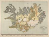 Vintage Geological Map of Iceland (1901)