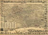 Vintage Pictorial Map of Elizabeth NJ (1898)