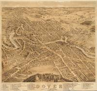 Vintage Pictorial Map of Dover NH (1877)