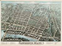 Vintage Pictorial Map of Lawrence Massachusetts (1