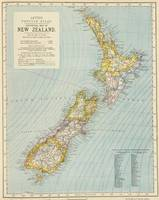 Vintage Map of New Zealand (1883)