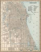 Vintage Map of Chicago (1893)