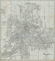 Vintage Map of Akron Ohio (1917)