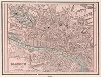 Vintage Map of Glasgow Scotland (1901)
