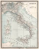 Vintage Map of Italy (1893)