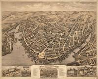 Vintage Pictorial Map of New London CT (1876)