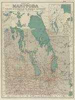 Vintage Map of Manitoba (1915)