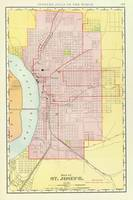 Vintage Map of St Joseph Missouri (1897)