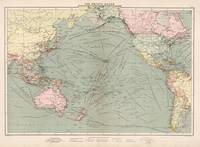 Vintage Pacific Ocean Navigational Map (1905)