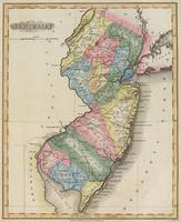 Vintage Map of New Jersey (1823)