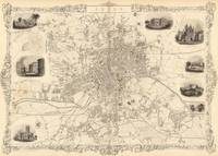 Vintage Map of Leeds England (1851)