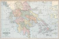 Vintage Map of Greece (1901)