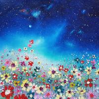 Northern Lights & Meadow Flowers in Love
