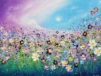 The Purple Meadow Flowers in Love
