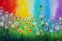 Rainbow Flowers in Love