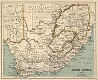 Vintage Map of South Africa (1889)