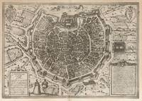 Vintage Map of Milan Italy (1575)