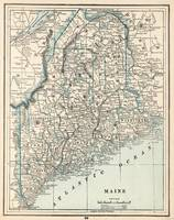 Vintage Map of Maine (1893)