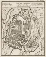 Vintage Map of Copenhagen Denmark (1764)
