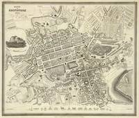 Vintage Map of Edinburgh Scotland (1844)