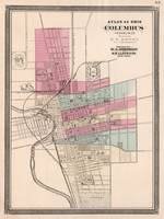 Vintage Map of Columbus Ohio (1868)