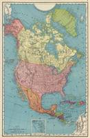 Vintage Map of North America (1903)