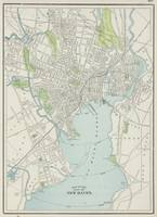 Vintage Map of New Haven Connecticut (1901)