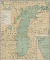 Vintage Lake Michigan Lighthouse Map (1898)