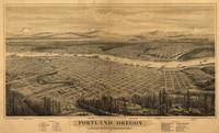 Vintage Pictorial Map of Portland Oregon (1879)