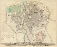 Vintage Map of Parma Italy (1840)