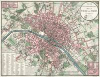 Vintage Map of Paris France (1821)
