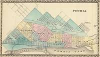 Vintage Map of Peoria IL (1876)