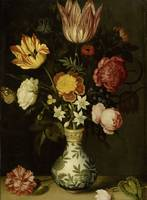 Still Life with Flowers in a Wan-li Vase, Ambrosiu