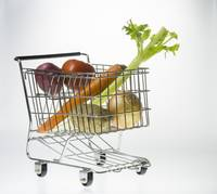 Mini Shopping Cart as Vegetable Basket