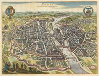 Vintage Map of Paris France (1655)