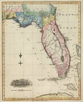 Vintage Map of Florida (1823)