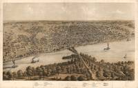 Vintage Pictorial Map of Peoria Illinois (1867)