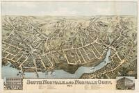 Vintage Pictorial Map of Norwalk Connecticut (1875