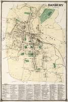 Vintage Map of Danbury Connecticut (1867)