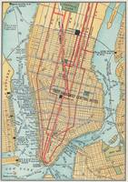 Vintage Map of New York City (1900)